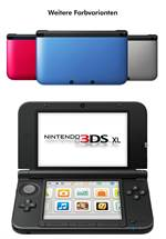 3DS XL Konsole silber + schwarz