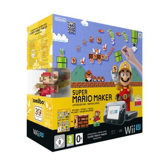 Wii U Konsole inkl. Super Mario Maker + Artbook + Amiibo