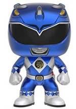 Power Ranger - POP! Vinyl-Figur Blue Ranger Metallic