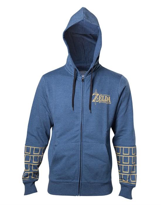 The Legend of Zelda: Breath of the Wild - Hoodie Gold Logo (Größe L)