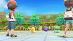 Pokemon Let's Go Pikachu, Let's Go Evoli Screenshot