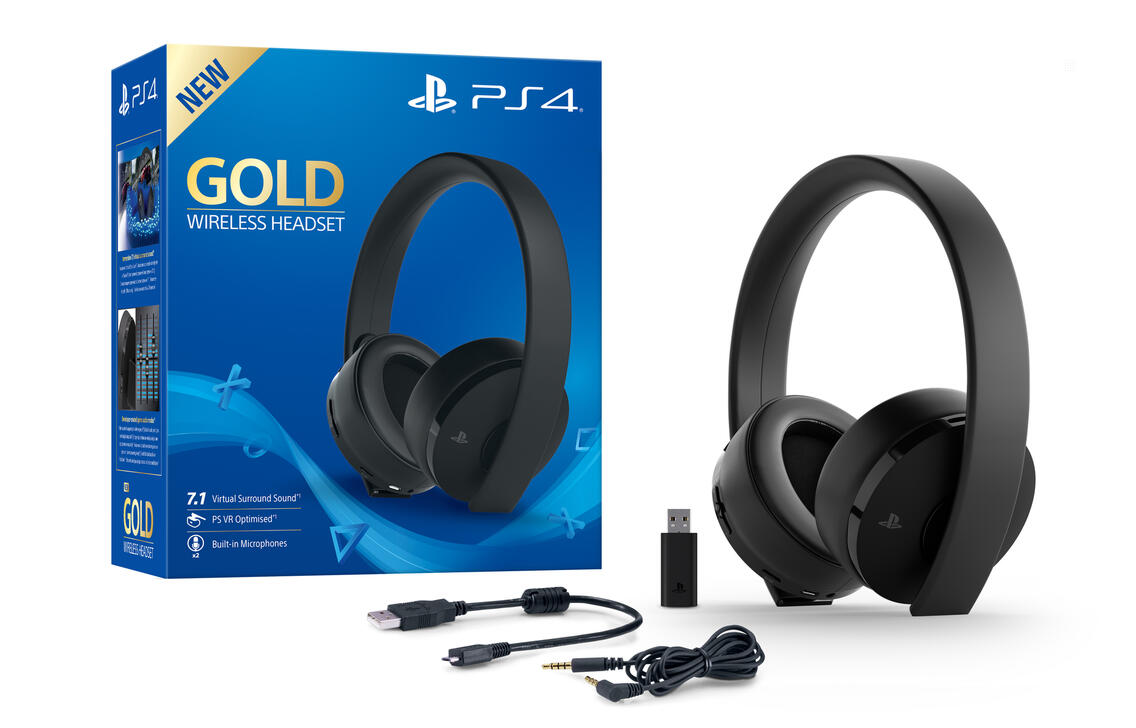 Sony PlayStation 4 Wireless Headset Gold Edition