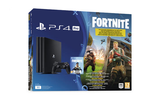 PlayStation 4 Pro 1TB Konsole + Fortnite Royal Bomber Pack