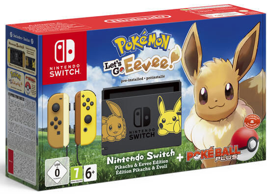 Nintendo Switch Konsole inkl. Pokémon Let's Go Evoli + Pokéball
