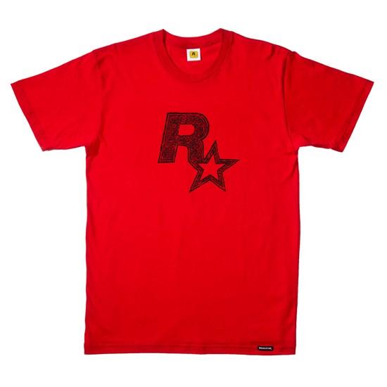 Rockstar - T-Shirt Logo rot (Größe S)