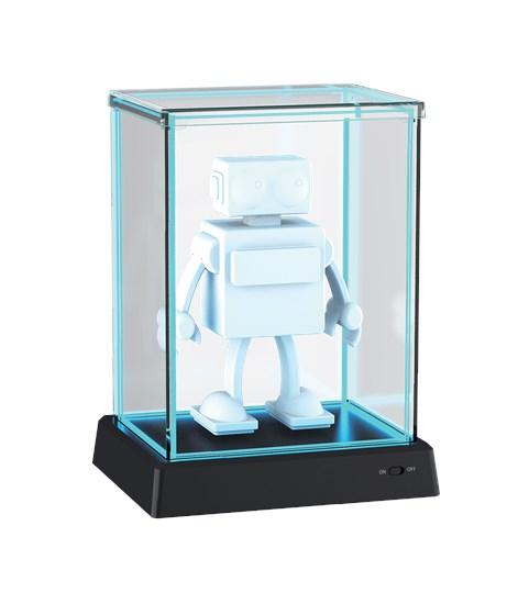 Glowbox Vitrine blau