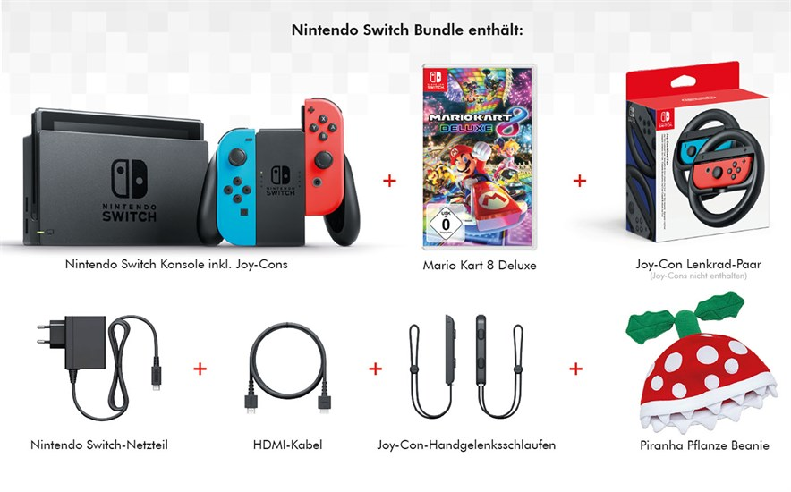 Nintendo Switch Mario Kart Racing Bundle (GameStop exklusiv!)