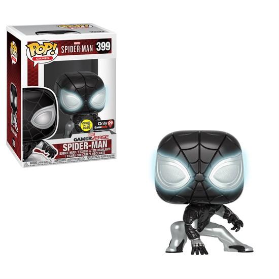 Marvel Spider-Man - POP!-Vinyl Figur Negative Spider-Man (Glow in the Dark)