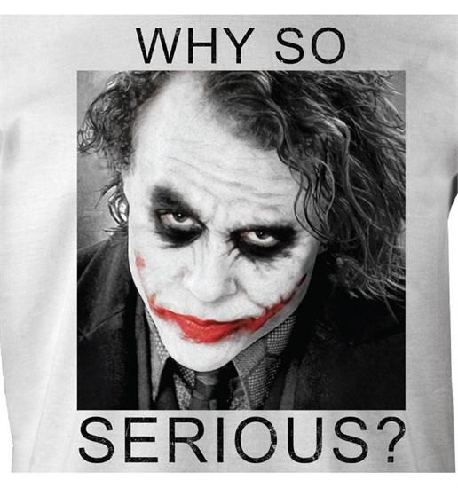 Batman - T-Shirt Joker Why so serious (Größe L)