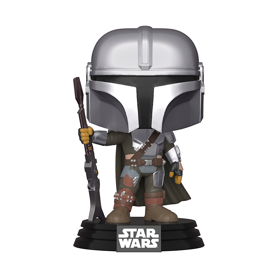 Star Wars: The Mandalorian - POP!-Vinyl Figur Mandalorian mit Waffe